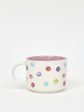 Bielo-ružový bodkovaný hrnček Cooksmart