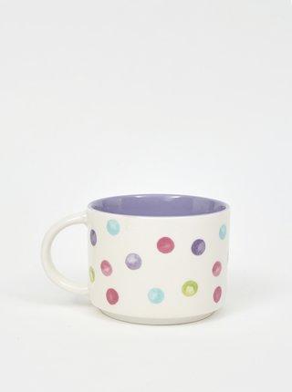 Bielo-fialový bodkovaný hrnček Cooksmart