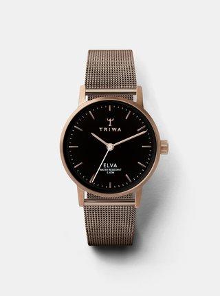 Dámské hodinky s kovovým páskem v růžovozlaté barvě TRIWA