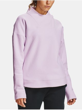 Fialová mikina Under Armour Recover Fleece Wrap Neck