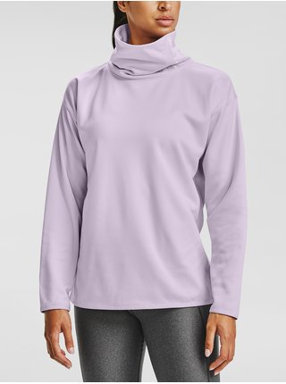 Fialová mikina Under Armour Armour Fleece Funnel Neck