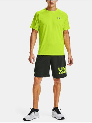 Khaki kraťasy Under Armour Tech Wordmark Shorts