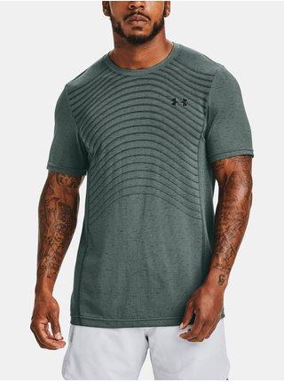 Tmavě šedé tričko Under Armour Seamless Wave SS