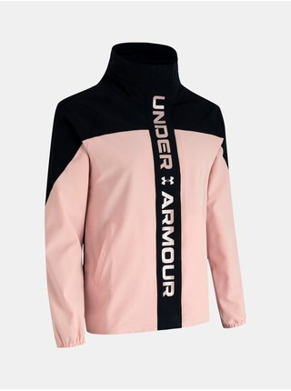 Růžová bunda Under Armour Recover Woven CB Jacket