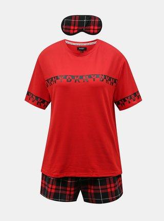 Červená pyžamová sada DKNY