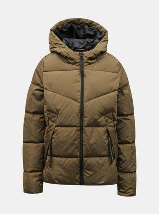 Hnědá zimní prošívaná bunda ONLY
