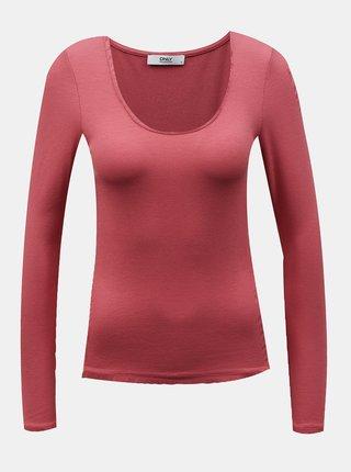 Růžové basic tričko ONLY