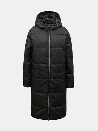 Černý zimní prošívaný kabát Jacqueline de Yong