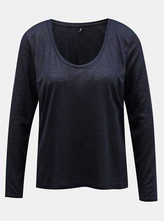 Tričká s dlhým rukávom pre ženy ONLY - tmavomodrá