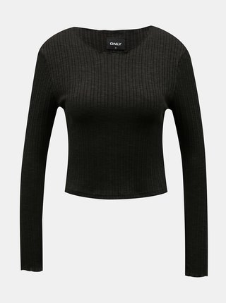 Tričká s dlhým rukávom pre ženy ONLY - čierna
