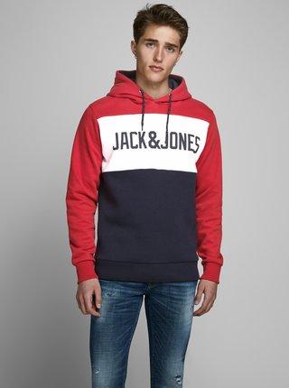 Červená mikina s kapucí Jack & Jones