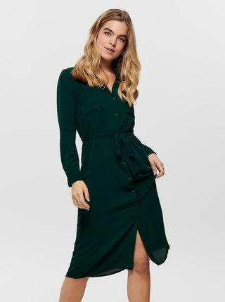 Tmavě zelené košilové šaty Jacqueline de Yong