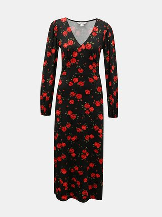 Čierne kvetované maxišaty Miss Selfridge