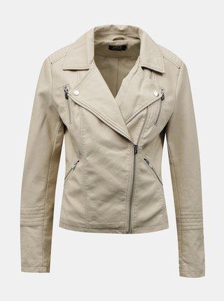 Jachete din piele naturala si sintetica pentru femei ONLY - crem