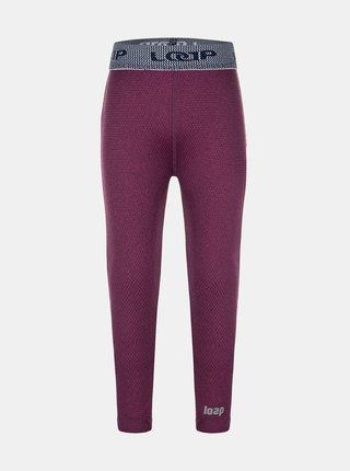 Vínové dievčenské termo nohavice LOAP