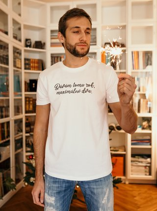 Biele pánske tričko ZOOT Original Dávam tomu rok