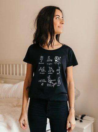 Čierne dámske tričko ZOOT Original Poloha mlieka a vody