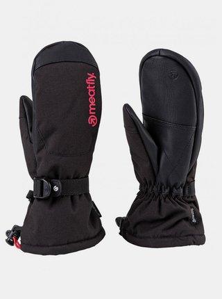 Černé dámské voděodolné rukavice Meatfly Manson