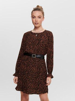 Hnědé vzorované šaty Jacqueline de Yong