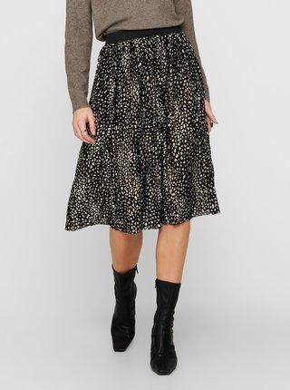 Černá vzorovaná plisovaná sukně Jacqueline de Yong
