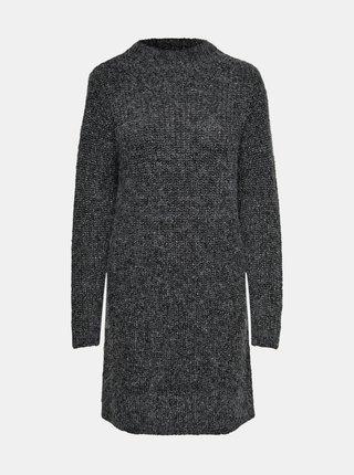 Tmavě šedé svetrové šaty Jacqueline de Yong