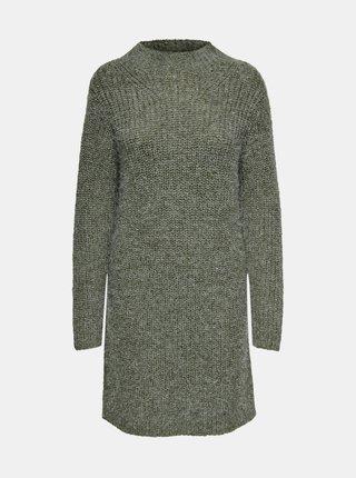Zelené svetrové šaty Jacqueline de Yong