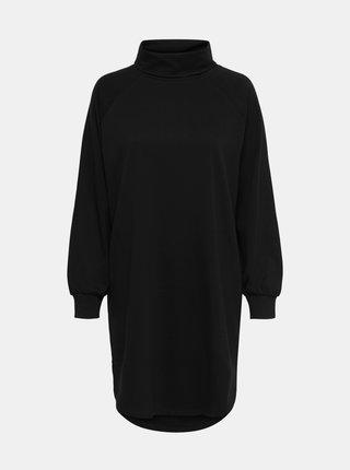 Čierne mikinové šaty s rolákom Jacqueline de Yong
