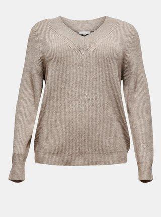 Béžový svetr ONLY CARMAKOMA Resly