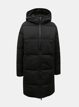 Černý zimní prošívaný kabát VILA