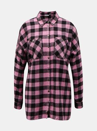 Ružová kockovaná košeľa Noisy May