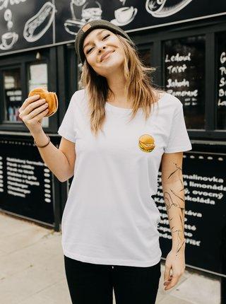 Biele dámske tričko ZOOT Original Vyprážaný syr