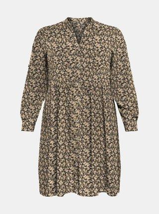 Béžové vzorované šaty ONLY CARMAKOMA New Marra