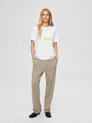 Bílé tričko Selected Femme Studio