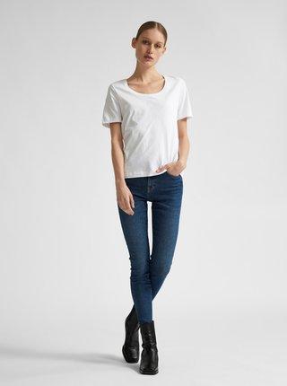 Biele basic tričko Selected Femme