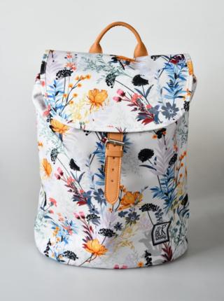 Biely dámsky vzorovaný batoh The Pack Society