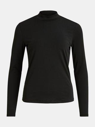Čierne tričko so stojáčikom VILA