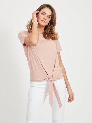 Růžové tričko se zavazováním .OBJECT