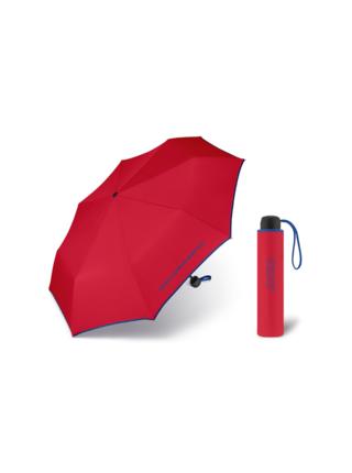 United Colors of Benetton Super Mini Red - červený deštník s modrým lemem - Červená