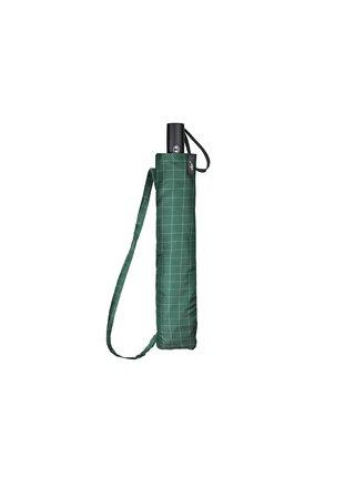 Cachemir Golf Check skládací golfový deštník s popruhem přes rameno - Zelená