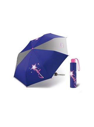 Scout MAGIC WAND dětský skládací deštník kouzelná hůlka - Fialová