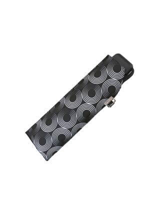 Doppler Carbonsteel SLIM Glow černý odlehčený skládací plochý deštník - Černá