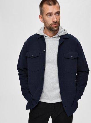 Tmavě modrá svrchní košile Selected Homme