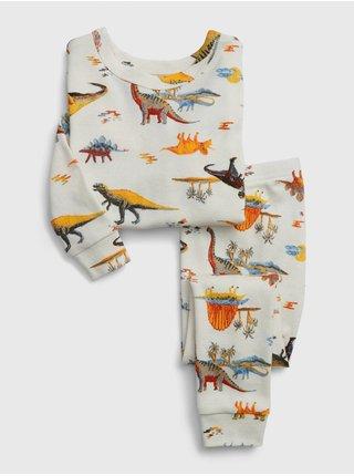 Bílé klučičí pyžamo GAP Dino