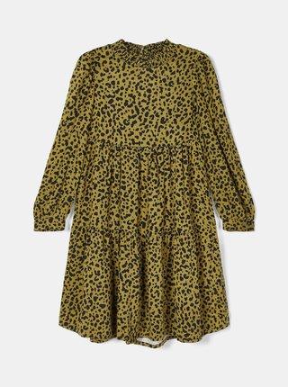 Žluté holčičí vzorované šaty name it