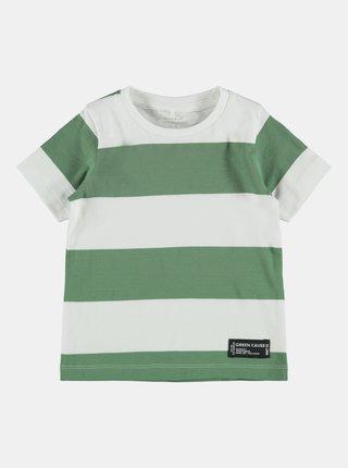 Zelené klučičí pruhované tričko name it