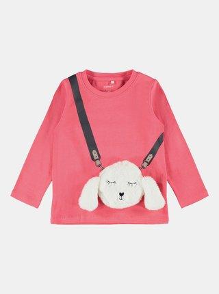 Růžové holčičí tričko s potiskem name it
