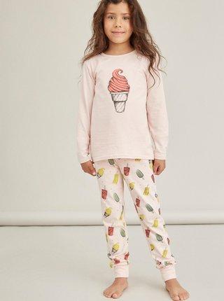 Růžové holčičí vzorované pyžamo name it