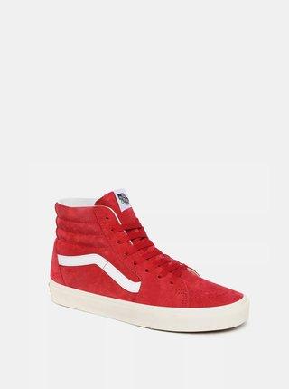 Červené dámské kotníkové tenisky VANS