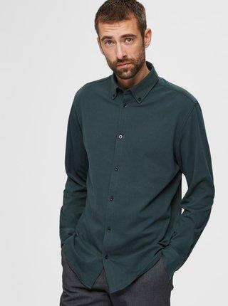 Zelená košile Selected Homme