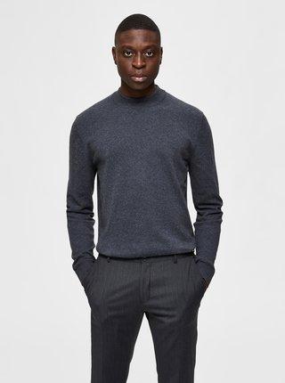Šedý sveter s prímesou kašmíru Selected Homme